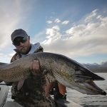 Guide Hunter Pierson with large Colorado Pike