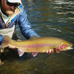Fly Fishing Guide Hunter Pierson with huge Colorado river trout