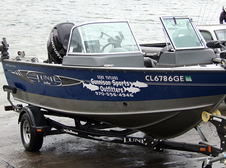 GSO Fishing Guide Ryan VanLanen's Lund Guide Boat