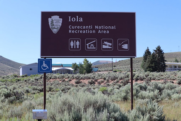 Blue Mesa Reservoir - Ioal Boat Ramp Sign