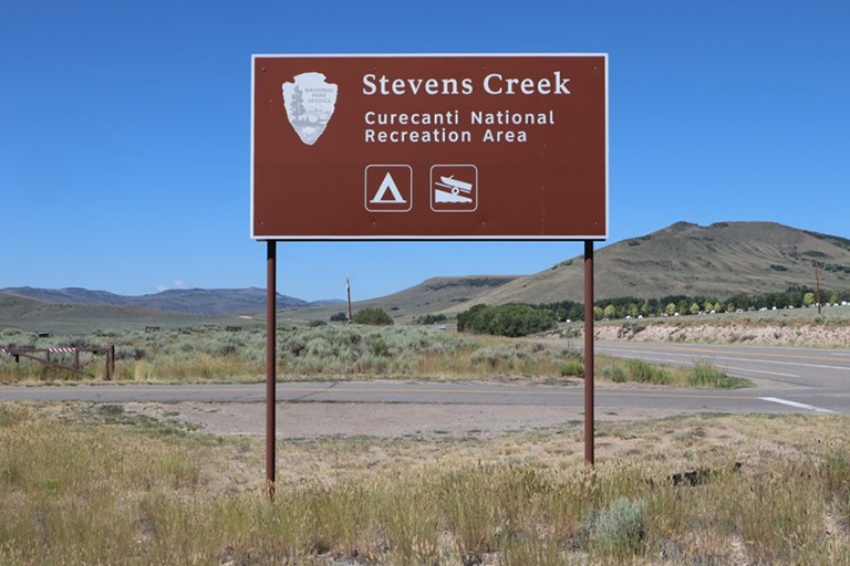 Blue Mesa Reservoir - Steven's Creek Boat Ramp Sign