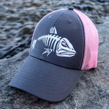 GSO Fishing Mesh Back Pink Logo Cap