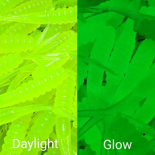 GSO Fishing - TG Grubs - Glow Chart.