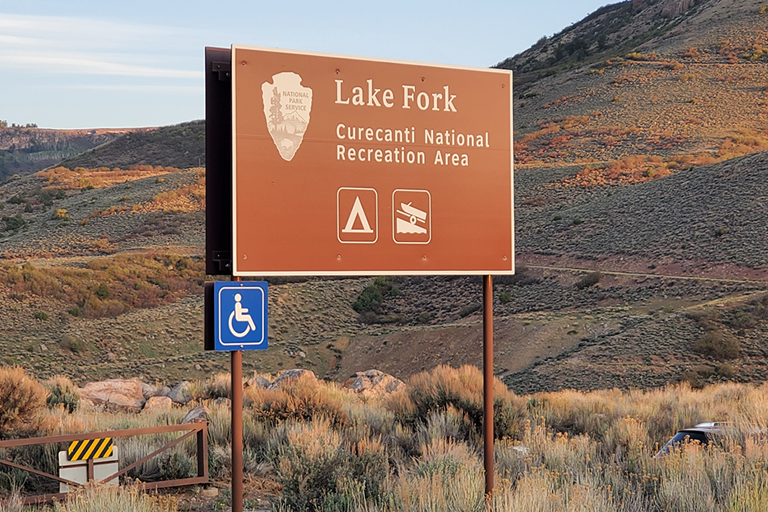 Blue Mesa Reservoir - Lake Fork Boat Ramp Sign