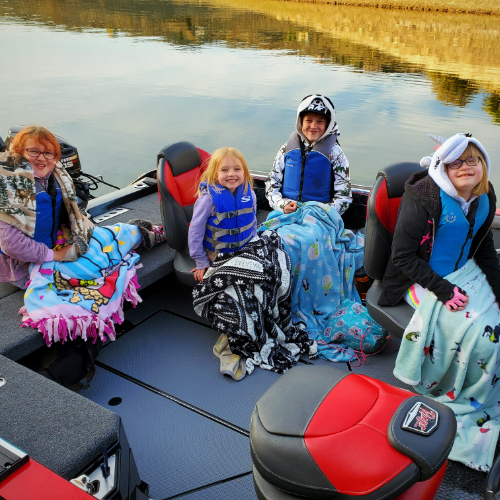 GSO Fishing Family on Boat - Dressing In Layers