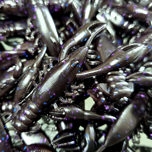 GSO Fishing TRG MudBug - Bruised (black body with purple and blue sparkles)