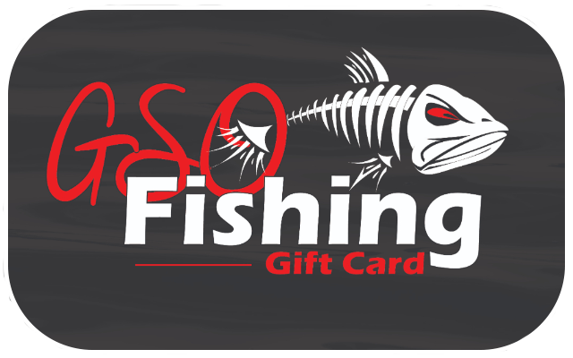 GSO Fishing Logo on Gift Card