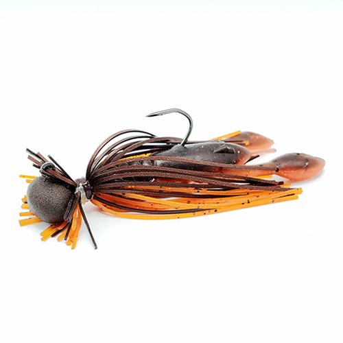 GSO Premium Finesse Jig - Spring Craw (brown and orange)