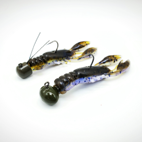 GSO Fishing - TRG MudBugs - How To Use - Display of Football Head & Ned Rig with TRG MudBugs