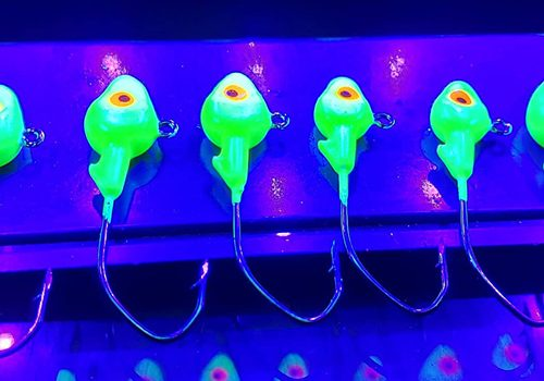 Charging Glow Jigs - GSO Fishing