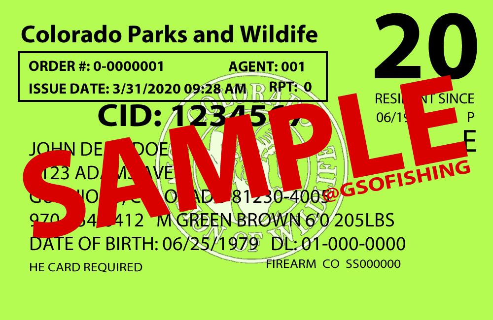 Colorado Fishing License - GSO Fishing