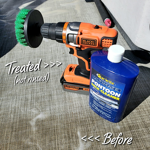 GSO Fishing Star Brite Ultimate Pontoon Deck Cleaner & Drill With Scrub Brush